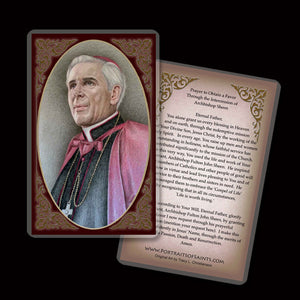 Venerable Archbishop Fulton Sheen Holy Card