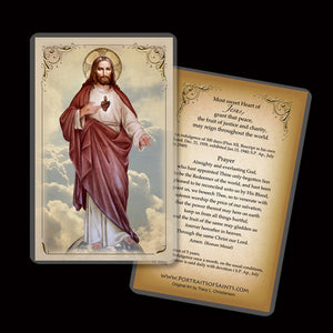 Sacred Heart (full-length) Holy Card