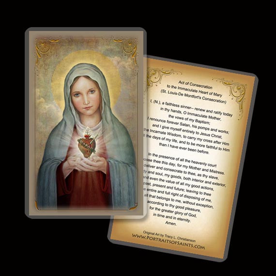 Immaculate Heart of Mary (A) Holy Card