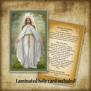 Our Lady of Good Help Plaque & Holy Card Gift Set