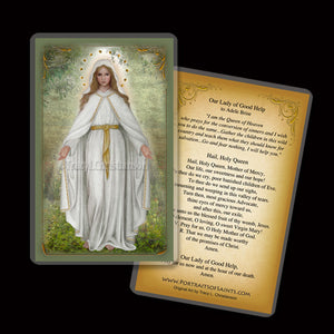 Our Lady of Good Help Holy Card