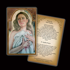 St. Agatha Holy Card