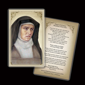 St. Edith Stein (St Teresa Benedicta of the Cross) Holy Card