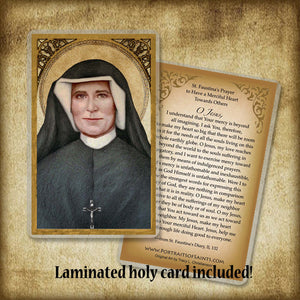 St. Faustina Pendant & Holy Card Gift Set