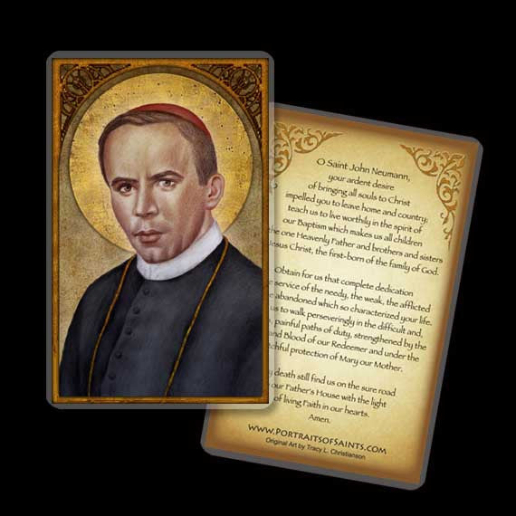 St. John Neumann Holy Card