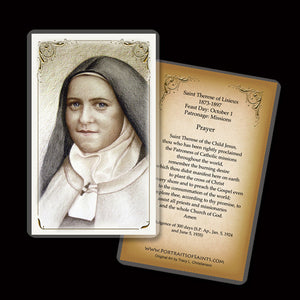 St. Therese of Lisieux (B) Holy Card