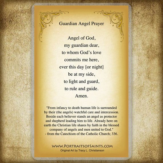 Guardian Angel/Boy Holy Card