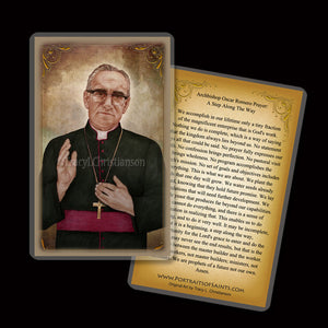 St. Oscar Romero Holy Card