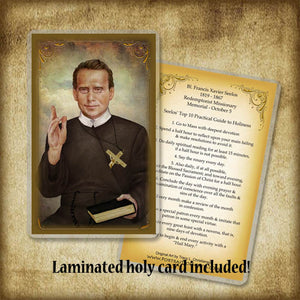 Bl. Fr. Francis Xavier Seelos Plaque & Holy Card Gift Set