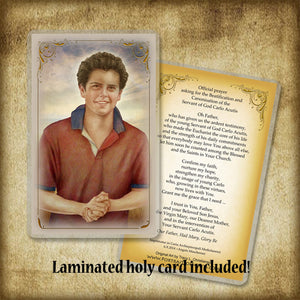 Venerable Carlo Acutis Pendant & Holy Card Gift Set