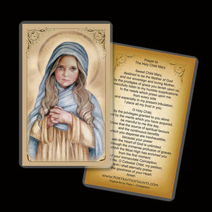 The Child Mary Holy Card