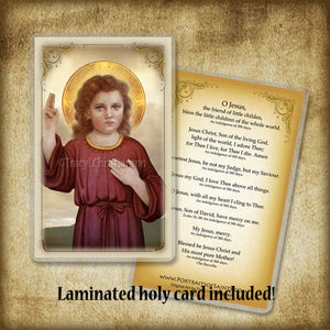 The Christ Child Plaque & Holy Card Gift Set