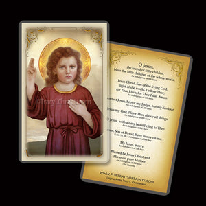 The Christ Child Holy Card