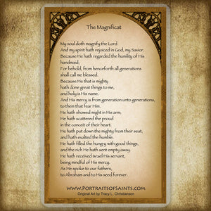 The First Advent Holy Card / Magnificat Prayer