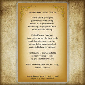 Venerable Fr. Emil Kapaun Holy Card