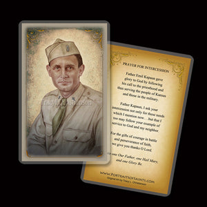 Servant of God Fr. Emil Kapaun Holy Card