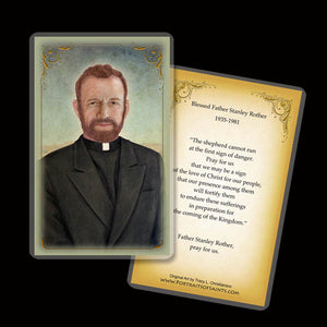 Bl. Fr. Stanley Rother Holy Card