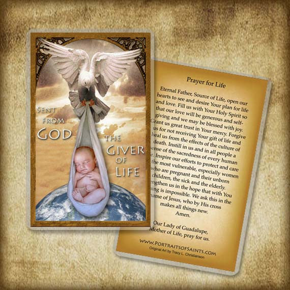 Giver of Life Holy Card