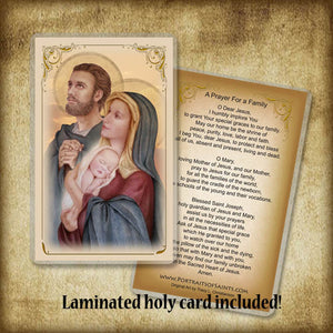 Holy Family (C) Plaque & Holy Card Gift Set