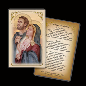 Holy Family (C) Holy Card