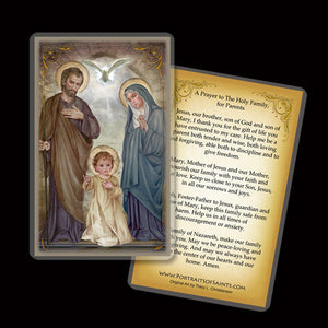 Holy Family (E) Holy Card