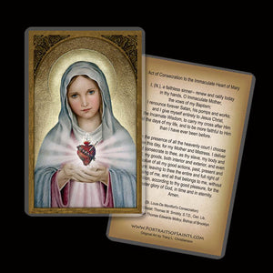 Immaculate Heart Holy Card