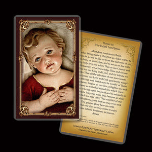 Infant Jesus Holy Card