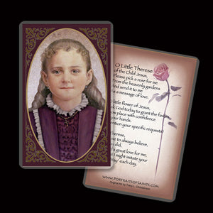 St. Therese of Lisieux, the Little Flower Holy Card
