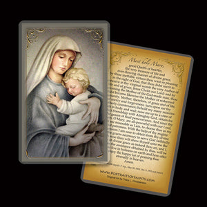 Madonna & Child (C) Holy Card