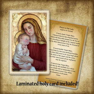 Madonna & Child (G) Plaque & Holy Card Gift Set