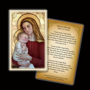 Madonna & Child (G) Holy Card