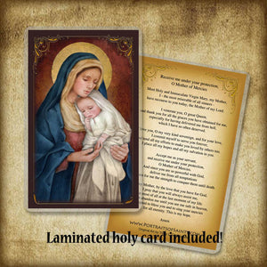 Madonna & Child (H) Plaque & Holy Card Gift Set