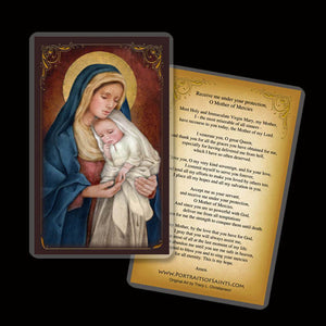 Madonna & Child (H) Holy Card