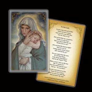 Madonna & Child (J) Holy Card