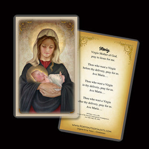 Madonna & Child (K) Holy Card