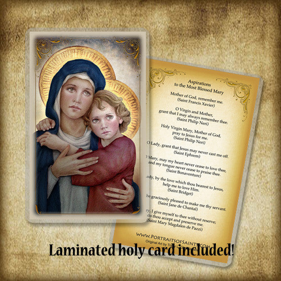 Our Lady of Good Counsel Plaque & Holy Card Gift Set
