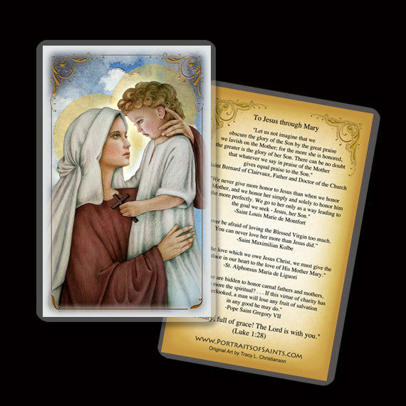Madonna & Child (N) Holy Card