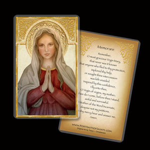 Mary, Mother of God Holy Card / Memorare Prayer