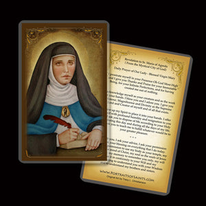 Venerable Mary of Agreda Holy Card