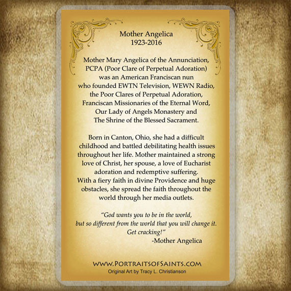 Mother Angelica Holy Card