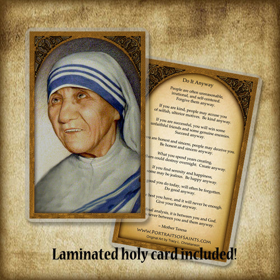 St. Mother Teresa of Calcutta Plaque & Holy Card Gift Set