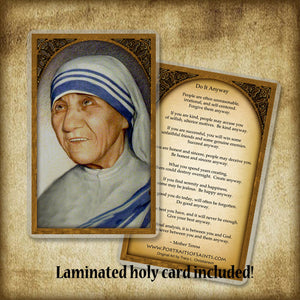 St. Mother Teresa of Calcutta Pendant & Holy Card Gift Set