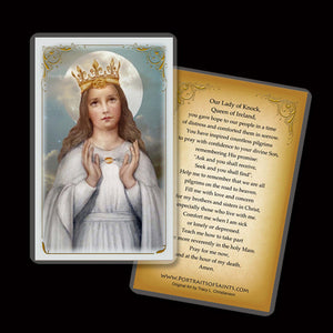 Our Lady of Knock Holy Card