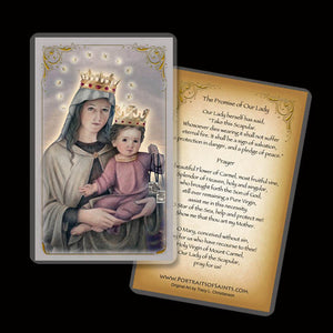 Our Lady of Mount Carmel Holy Card