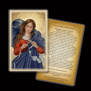 Our Lady Undoer of Knots Holy Card