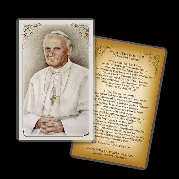 St. John Paul II Holy Card