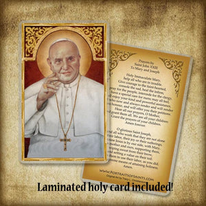 Pope St. John XXIII Plaque & Holy Card Gift Set