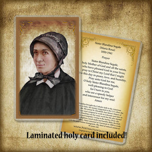 Sr. Blandina Segale Plaque & Holy Card Gift Set