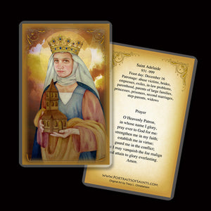 St. Adelaide Holy Card