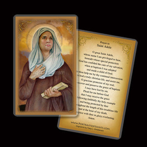 St. Adele Holy Card